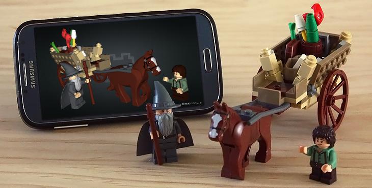 Gandalf Arrives real LEGO bricks